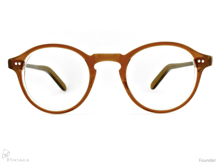 Old Focals Founder frame in rootbeer front view