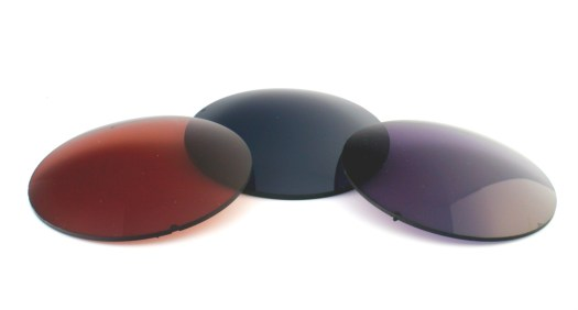Non-prescription UV lenses in brown, green and gray.