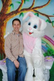 Easter Bunny and Clayton 2015