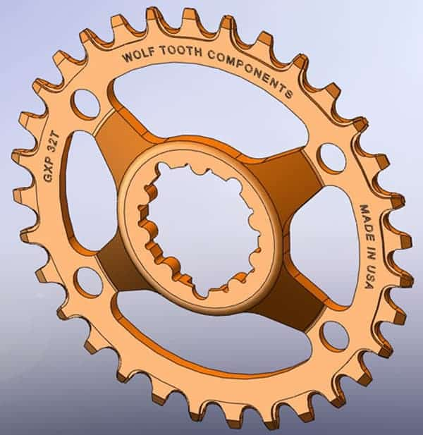 SRAM GXP direct mount chainring