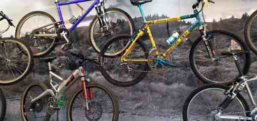 tons of mountain bike history on display