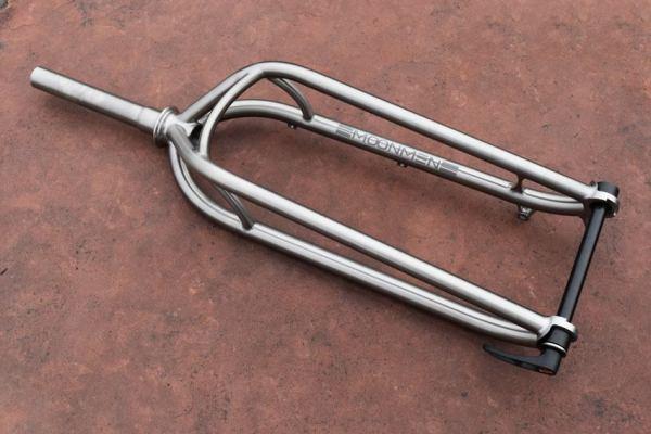 custom Moonmen Moonblaster titanium fork