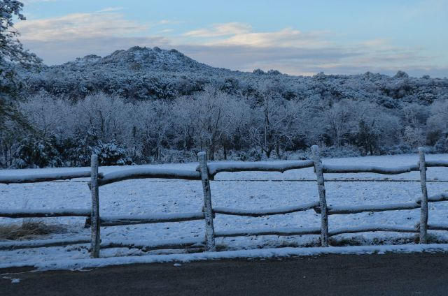old glory ranch- hill country- winter snow