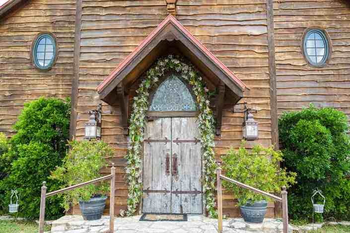 Wooden Antique Door Entrance to Old Glory Ranch