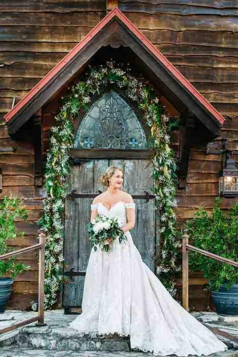Bridal Portraits at Vintage Chapel