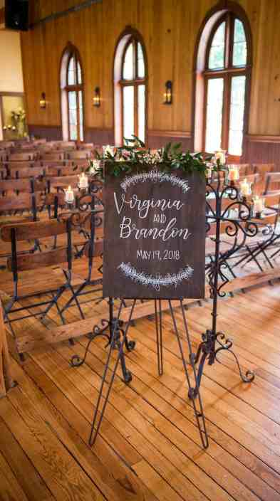 wedding-welcome-sign-indoor-reception-old-glory-ranch-hill-country-venue