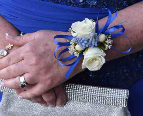 Wrist Corsage. Old Glory Ranch Floral Team