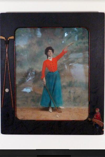 Lady Golfer Red Vest