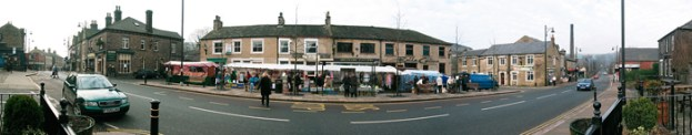 Uppermill Square on Market Day