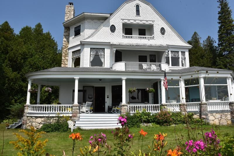 c.1888 Mackinac Island West Bluff Victorian Cottage with Water Views ~ Reduced Again