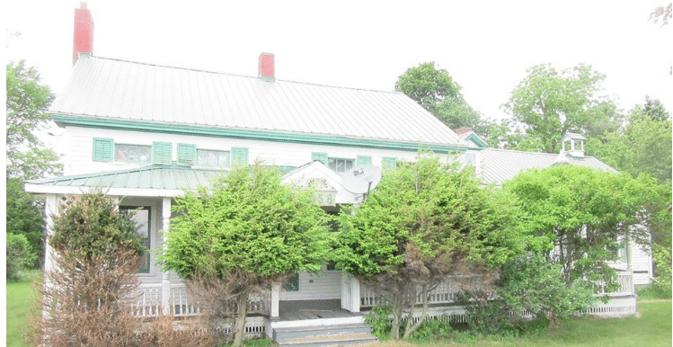NY riverfront farmhouse for sale with 5 acres & barn $52K