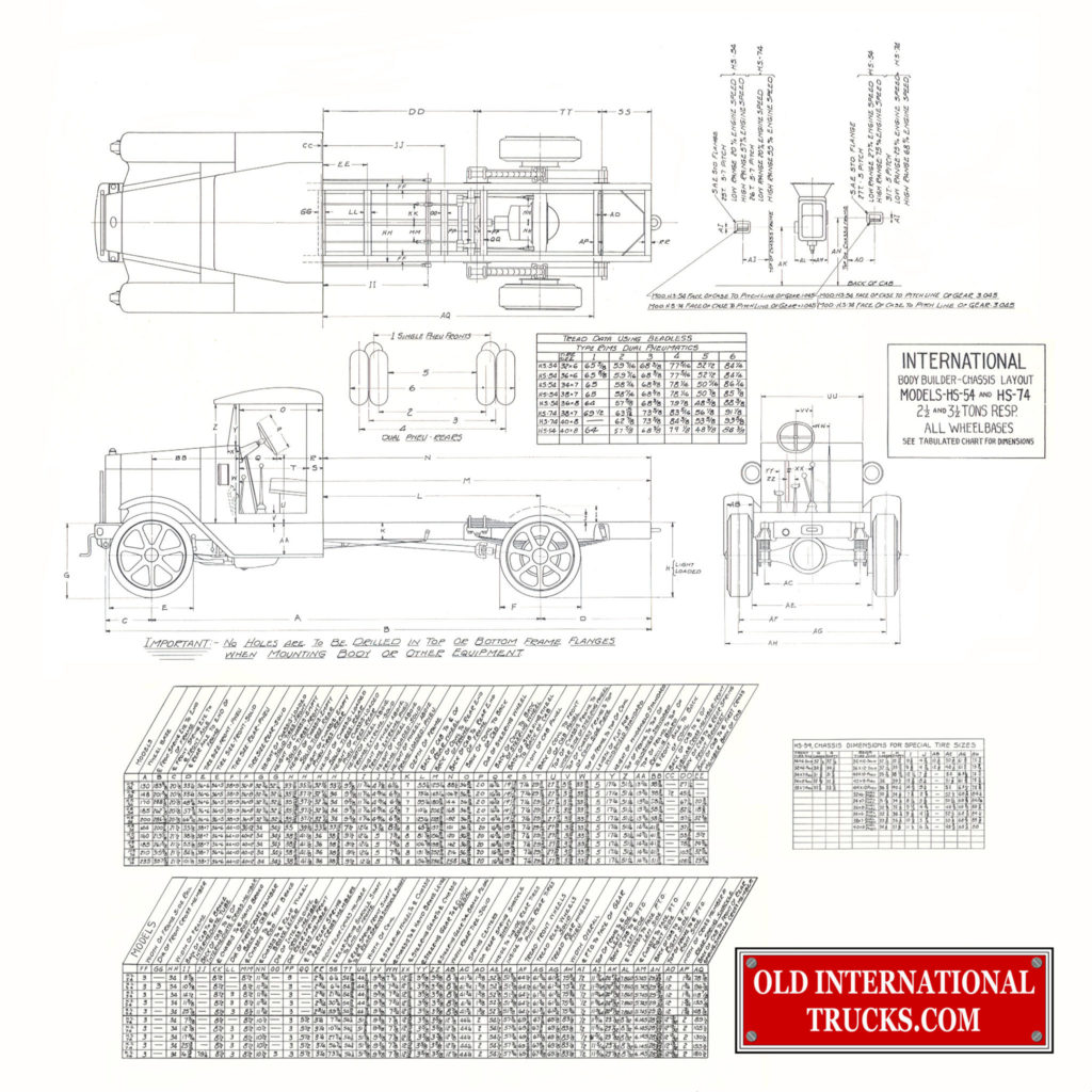 International Hs 54 Old International Truck Parts