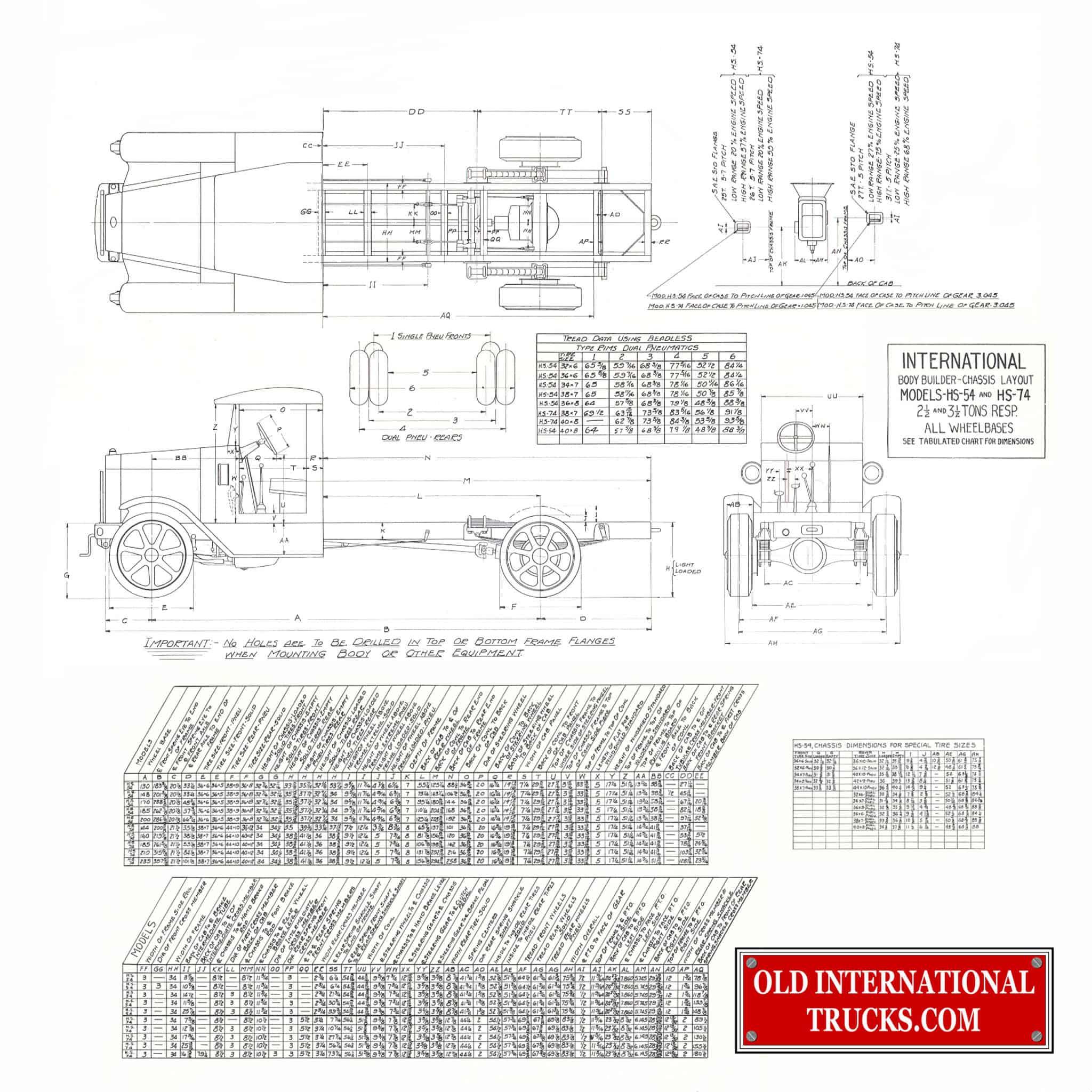 International Hs 54 Old International Truck Parts