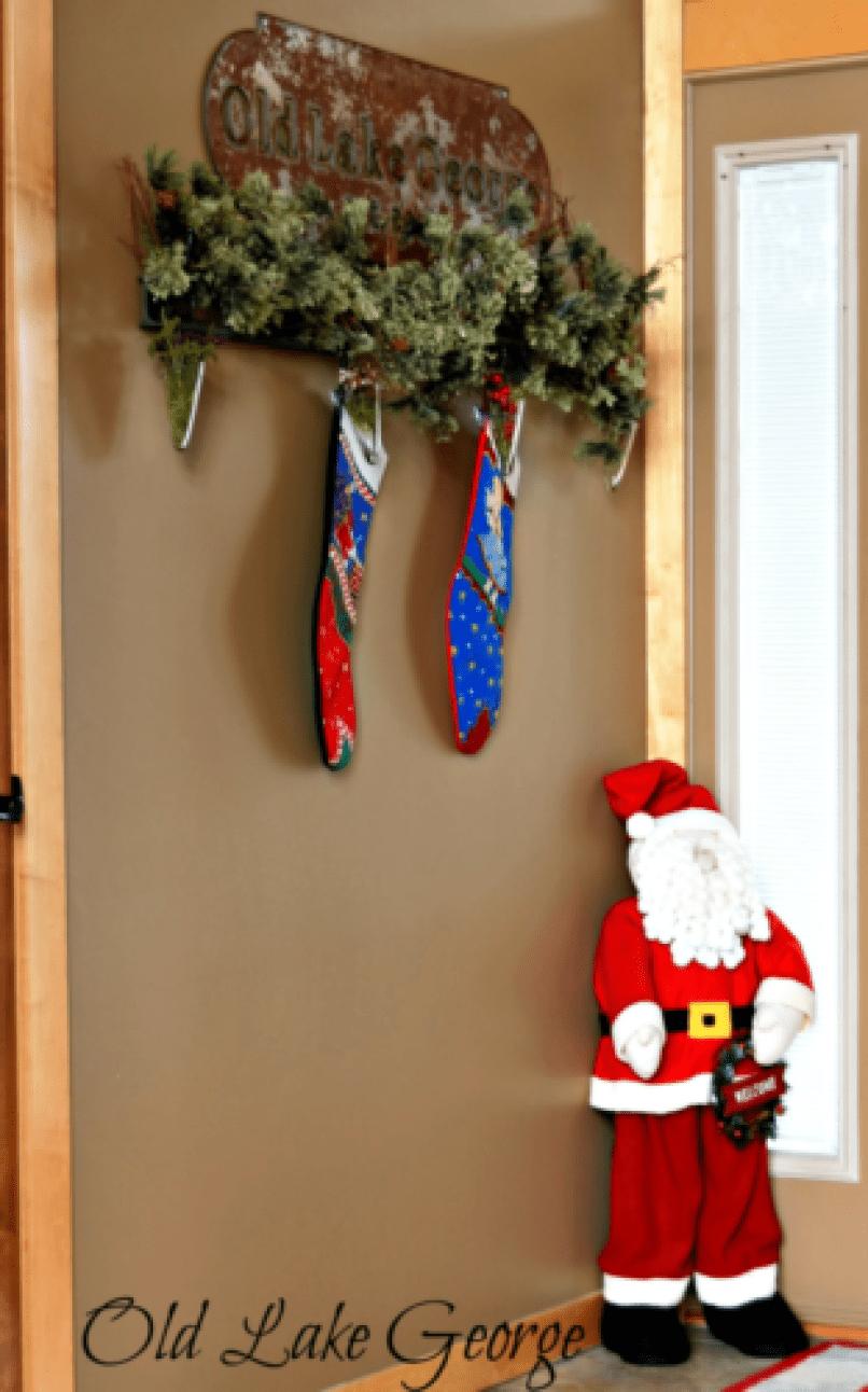 Santa in the entryway