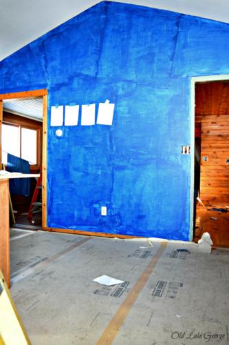 big blue wall