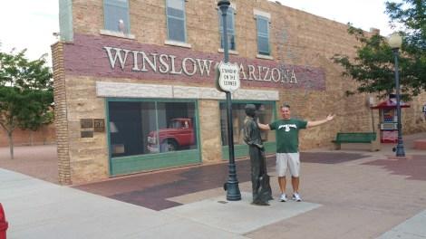 Winslow Arizona Old Man Hiking Rusty Ward