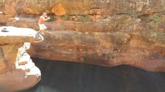 Bell Trail near Sedona, Arizona. Old Man Jumping.