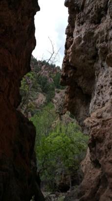 Hiking in Arizona. Tonto Natural Bridge. Old Man Hiking.
