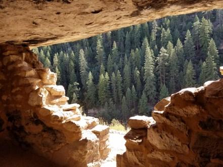Hiking in Arizona Walnut Canyon, Flagstaff.