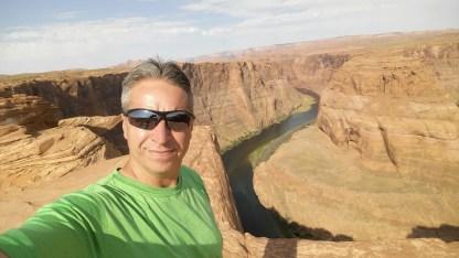 Desert Hiking at Horseshoe Bend. Page, Arizona