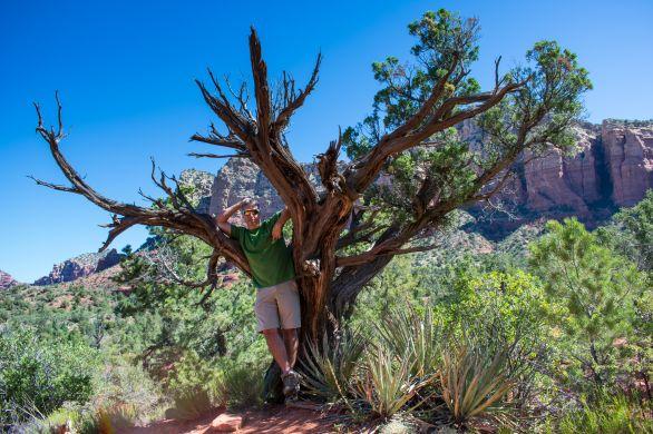 Sedona Courthouse Butte Trail Hiking Arizona. Rusty Ward.