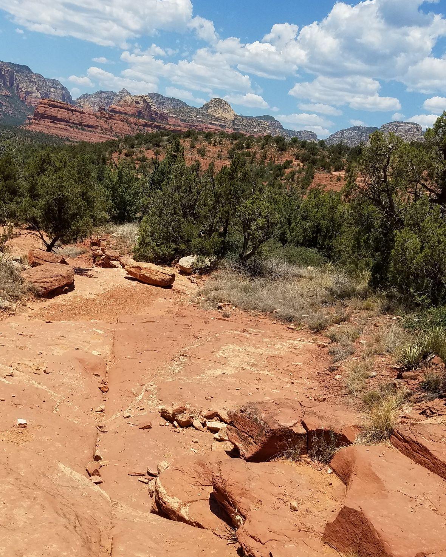 Hiking Desert Trail Sedona Arizona