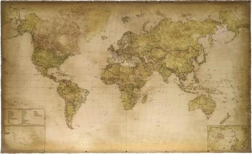 World map (2020) push pin