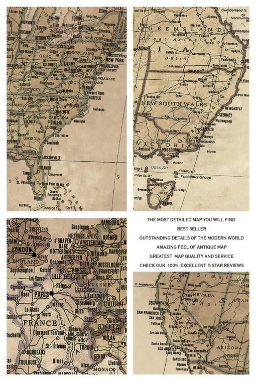 best seller map world vintage copy