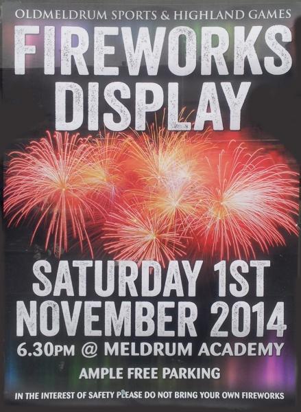 20141022_Oldmeldrum Sports Fireworks