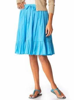 voile drawstring skirt