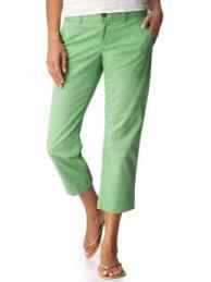 Women's tall green clothing Perfect Khaki Capris