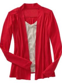 Women: Women's Open-Front Tall Cardigans - Radiant Red