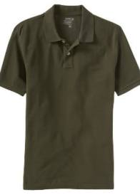 Men's tall green clothing polo shirt