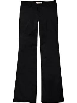 Women: Women's Lightweight Twill Wide-Leg Trousers - Black Jack