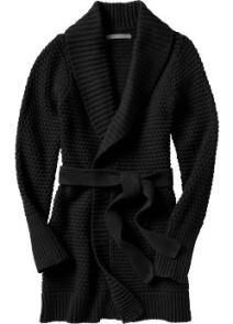 Belted Shawl Tall Cardigans - Black Jack