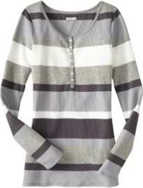 Women's tall layering shirts - Black/Gray Stripe