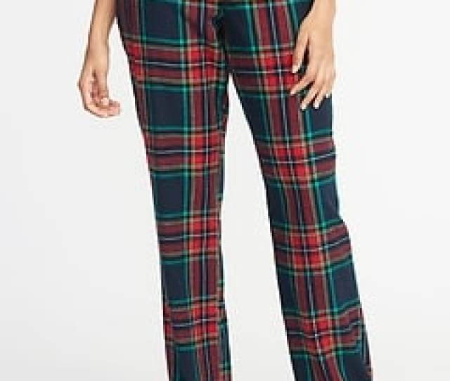 Patterned Flannel Sleep Pants For Women
