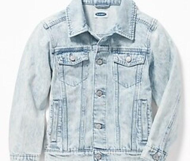 Stone Washed Denim Jacket For Boys