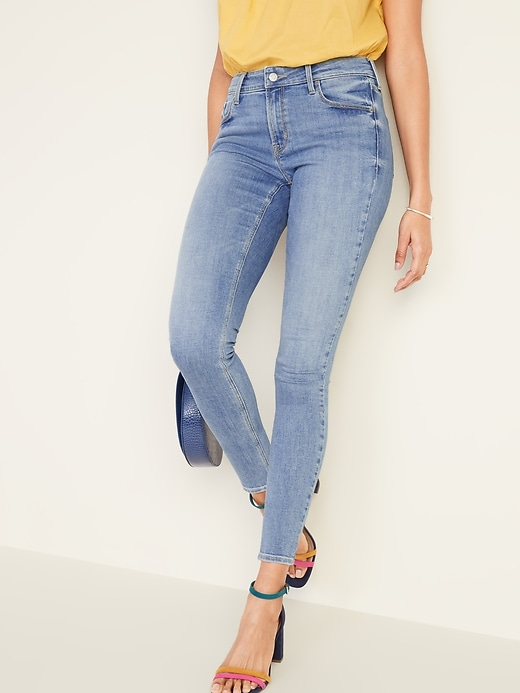 Image number 1 showing, Mid-Rise Rockstar Super Skinny Jeans for Women