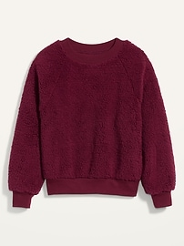View large product image 5 of 11. Loose Cozy Sherpa Sweatshirt for Women