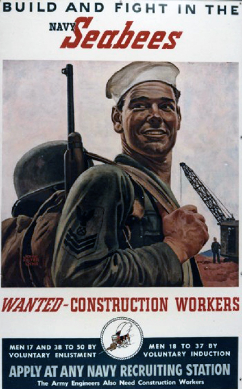 WWII seabees recruiting poster