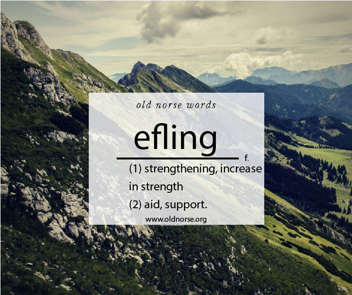 Old Norse Vocab Template_Word of the Day_efling