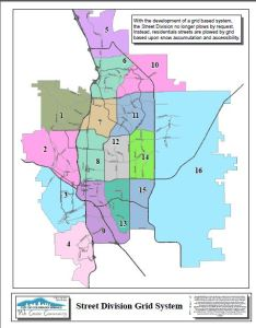 Map of Street Division Grid System