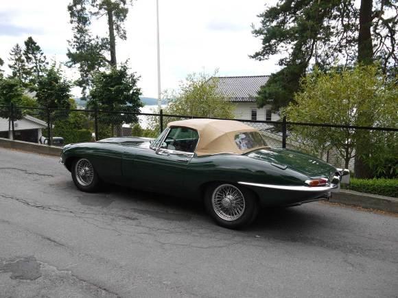 1968 Jaguar E-type 4.2 Roadster Classic car Oslo Norway