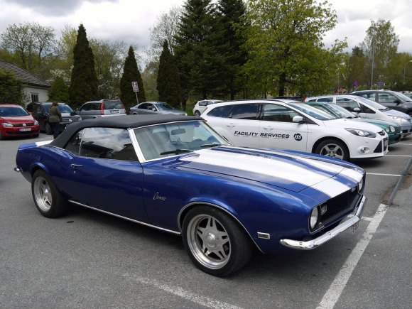 1968 CHEVROLET CAMARO CONVERTIBLE OLD PARKED CARS