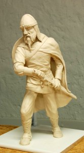 Photo of Dylan Goodson's Viking Warrior clay model