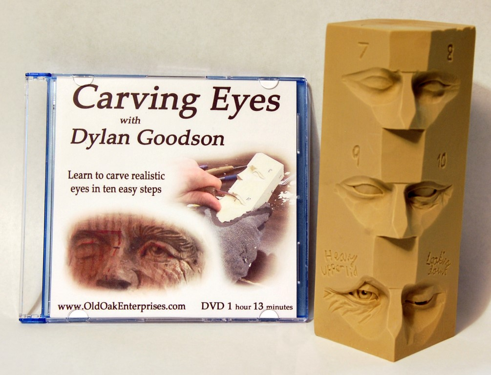 Photo of Dylan Goodson's DVD and Study casting on carving eyes
