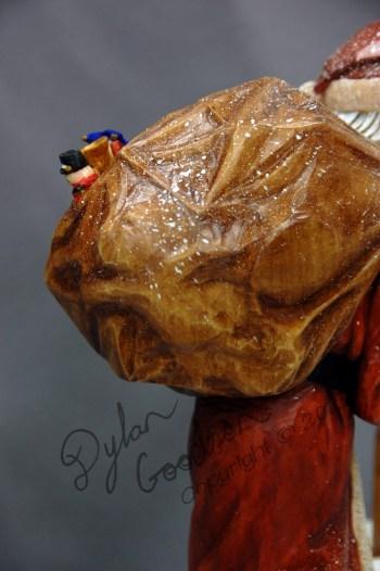 Santa Claus woodcarving Dylan Goodson