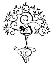 yoga tree of life clip art illustration