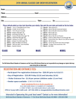 old orchard beach car show registration form